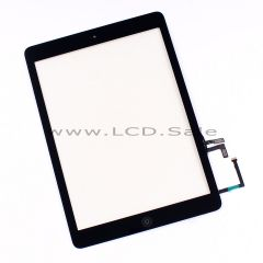 Black Glass Digitizer Touch Screen with Home Button for iPad Air 1