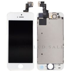 White Assembly for iPhone SE (LCD+Touch screen+Face camera+Earpiece)